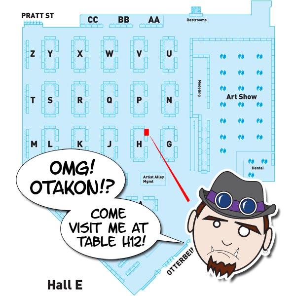 Otakon Artist Alley Map